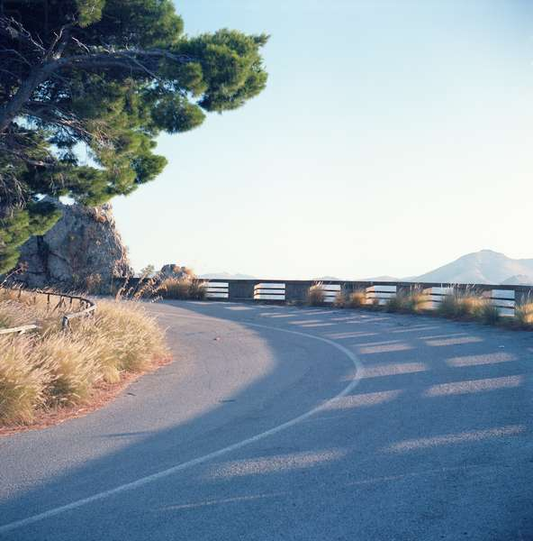 A road of Palermo's Monte Pellegrino, Palermo, Sicily, Italy, July, 2016 (photo)
