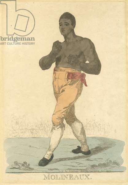 Tom Molineaux (hand-coloured etching)