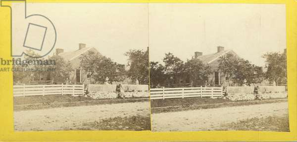 The House in which Jenny Wade was killed during the Battle, no. 510 from 'Tyson's Stereoscopic Views of The Battle-field of Gettysburg' (albumen print)