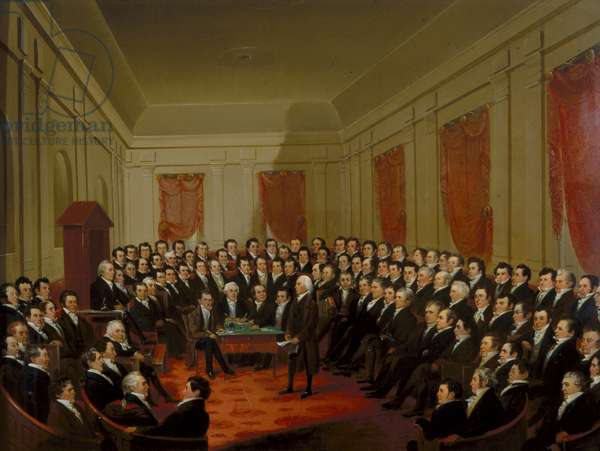 Virginia Constitutional Convention of 1829-30 (oil on panel)