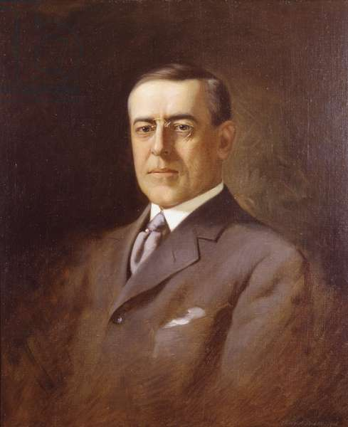 Portrait of Woodrow Wilson (oil on canvas)