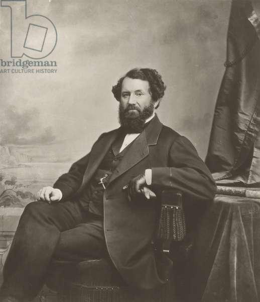 Portrait of Cyrus McCormick (b/w photo)