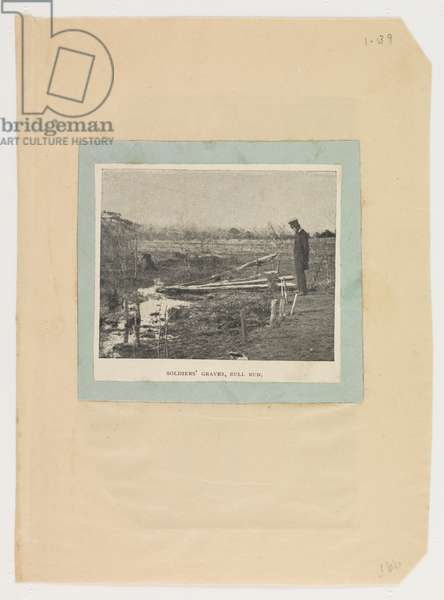 Soldiers' Graves, Bull Run, Virginia, 1861, from the Robert Knox Sneden Diary, 1861-65 (litho)
