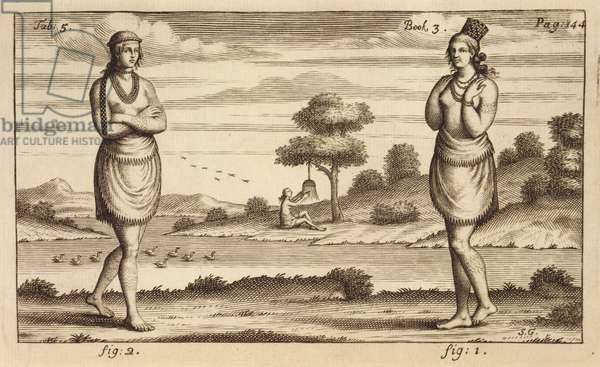 A Couple of Young Women, 1705 (engraving)