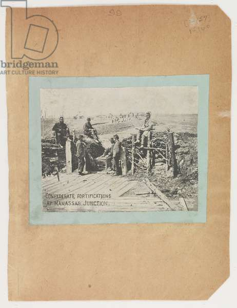 Confederate fortifications at Manassas Junction, from the Robert Knox Sneden Diary, 1861-65 (litho)
