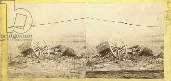 Unfit for Service, no. 226  from 'Photographic Incidents of the War, the Battle-Field of Gettysburg (albumen print)