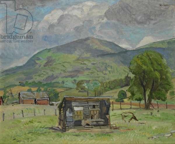 Shack, Jump Mountain (Rockbridge Baths), c.1950 (oil on beaverboard)