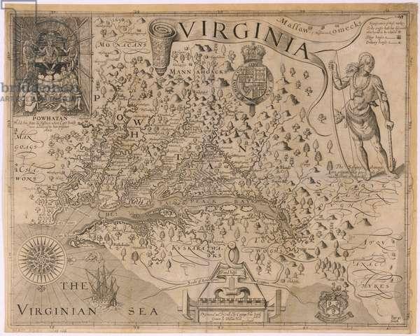 John Smith's Map of Virginia, 1624 (engraving)
