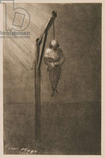 The Hanging of John Brown, 1860 (litho)