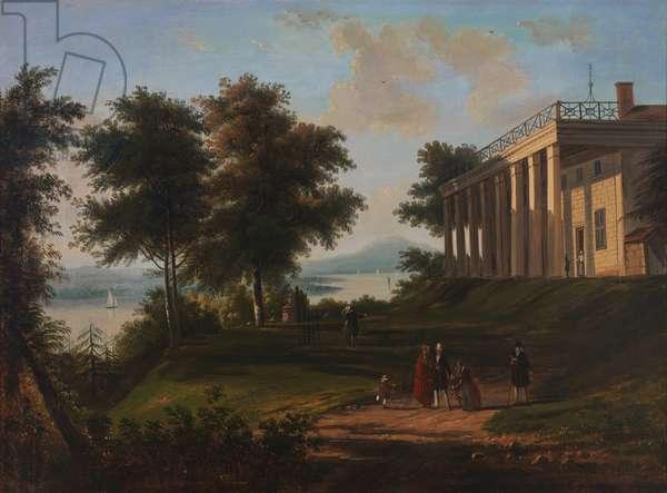 Washington's House, Mount Vernon, c.1845 (oil on canvas)