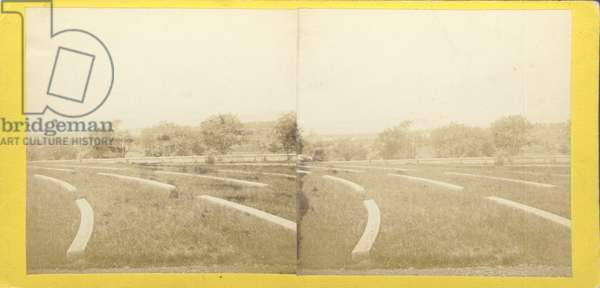 Soldiers' National Cemetary, at the site of the Battle of Gettysburg, no. 507 from 'Tyson's Stereoscopic Views of The Battle-field of Gettysburg' (albumen print)