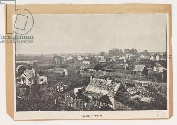 Hampton, Virginia, from the Robert Knox Sneden Diary, 1861-65 (litho)