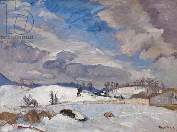 Winter Landscape (Rockbridge Baths), c.1950 (oil on canvas)