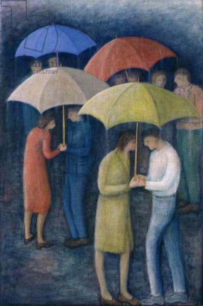 Raining, 1999 (oil on canvas)