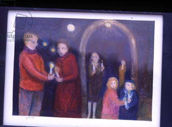 Celebration, 2001 (pastel on paper)