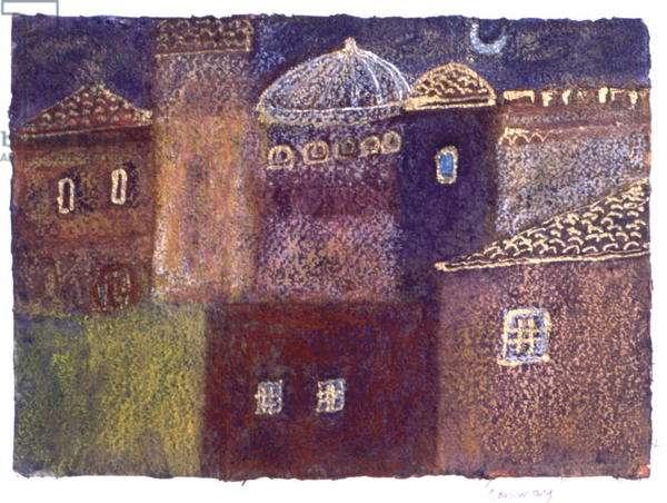 Perugia at Night, 2002 (pastel on paper)