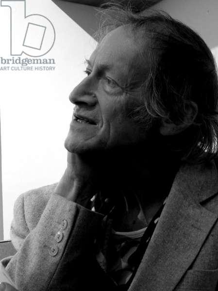 Michael Horovitz, Notting Hill, London, 1st February, 2011 (b/w photo)