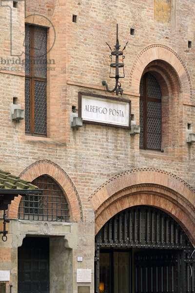 Detail of Hotel Posta, Reggio Emilia, Emilia-Romagna, Italy (photo)