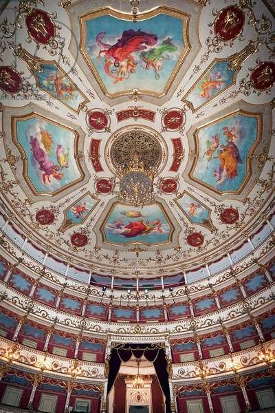 Interior of the Teatro Valli, Reggio Emilia, Emilia-Romagna, Italy (photo)