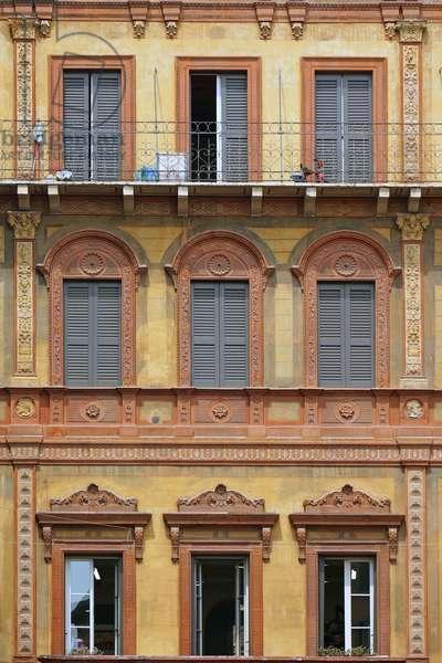 Southeast facade of Hotel Posta, Reggio Emilia, Emilia-Romagna, Italy (photo)
