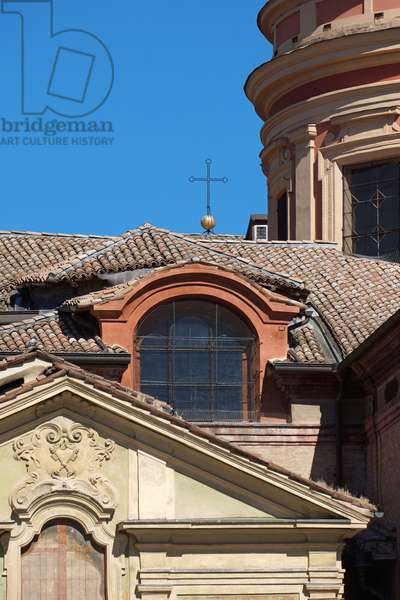 Architectural detail of the Cathedral, Reggio Emilia, Emilia-Romagna, Italy (photo)