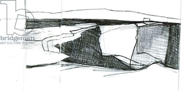 Drawing 1 Downpatrick Head, 2007 (pencil on paper)