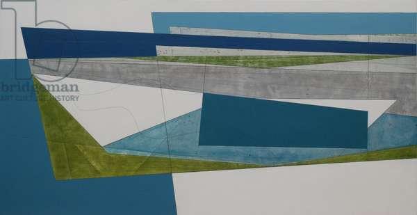 Wave Line 8, 2009 (acrylic on plywood)