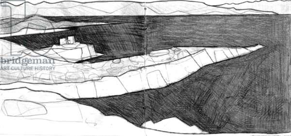 Attica Headlands drawing 3 (pencil on paper)
