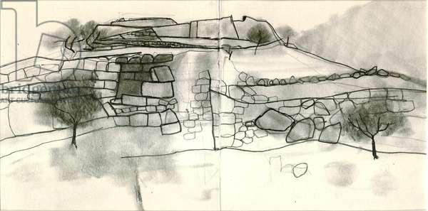 Mycenae, 2009 (pencil on paper)