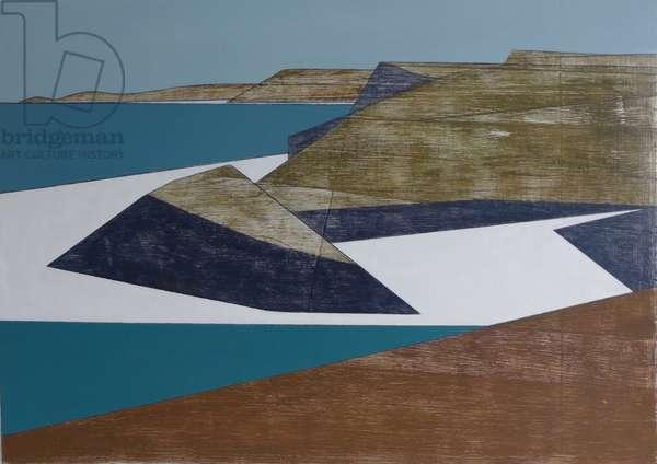 White Coast acrylic on plywood 30 x 43 cm