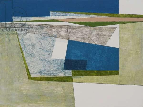 Cliff Border 3, 2009 (acrylic on plywood)