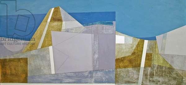 2 Paths, Lansallos 4 2005 81 x 173 cms acrylic on plywood
