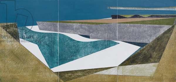 Waveline Triptych (acrylic on board)