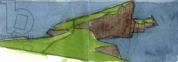 Neist Point Skye 2 (w/c & pencil on paper)