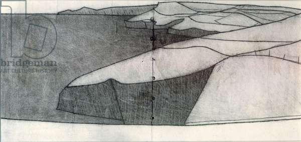 Pentargon Drawing 2009 14 x 28 cm pencil on paper copy