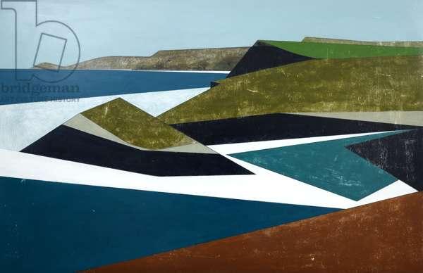 White Coast 9 2016 acrylic on board 80 x 122 cm