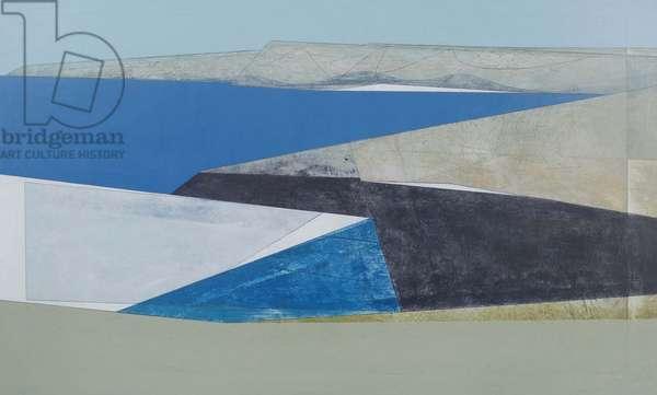 Cliff Wall 8 2013 acrylic on board 59 x 100 cm