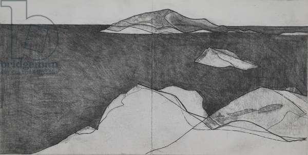 Cape Sounion 2, 2009 (pencil on paper)