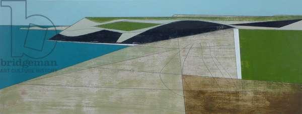 Field Edge 22 2014 22 x 55 cm acrylic on plywood