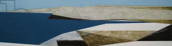 Path Line 15, 2009 (acrylic on board)