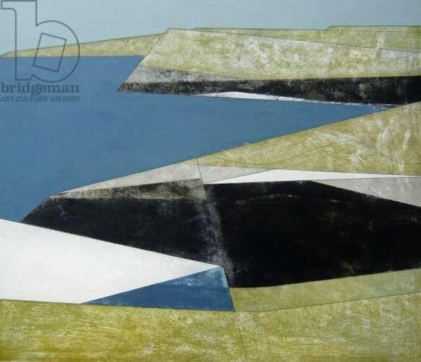 Cliff Wall 1 2008 110 x 120 cms acrylic on board