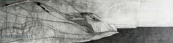 Argolis drawing 2, 2008 (black crayon on paper)