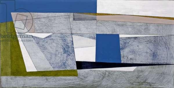 Abstract Coast 1 (acrylic on hardboard)