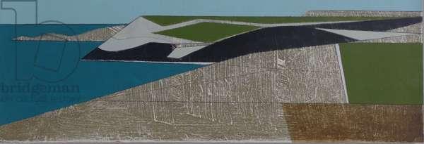 Field Edge 25 2015 acrylic on board 13 x 37 cm