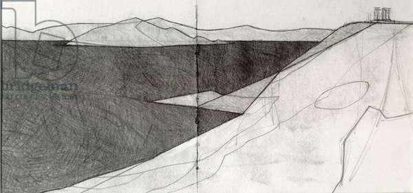 Cape Sounion 3, 2010 (pencil on paper)