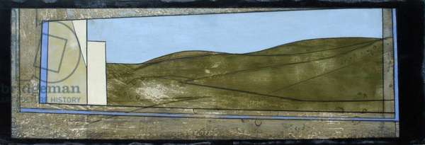Mycenae Window 1, 2011 (acrylic on board)