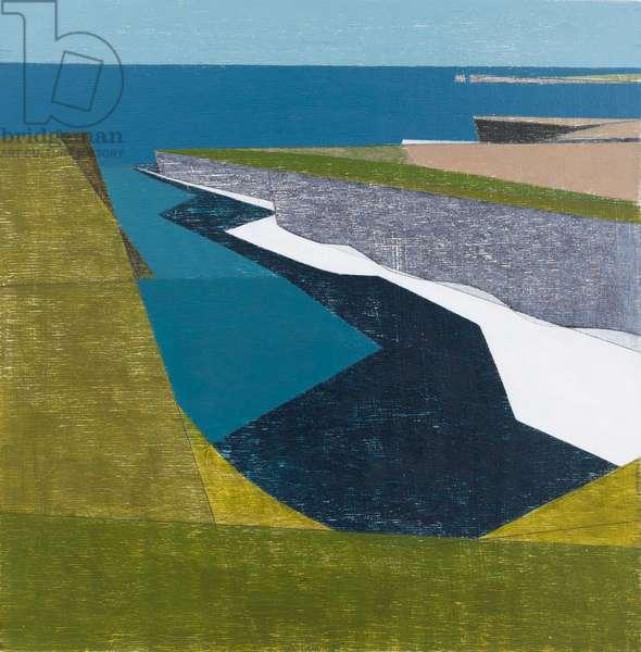 Cliff Shadow 1 (acrylic on plywood)