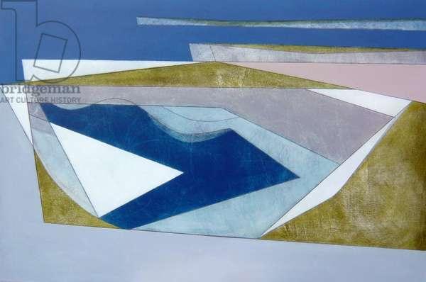 Headland, 2008 (acrylic on board)