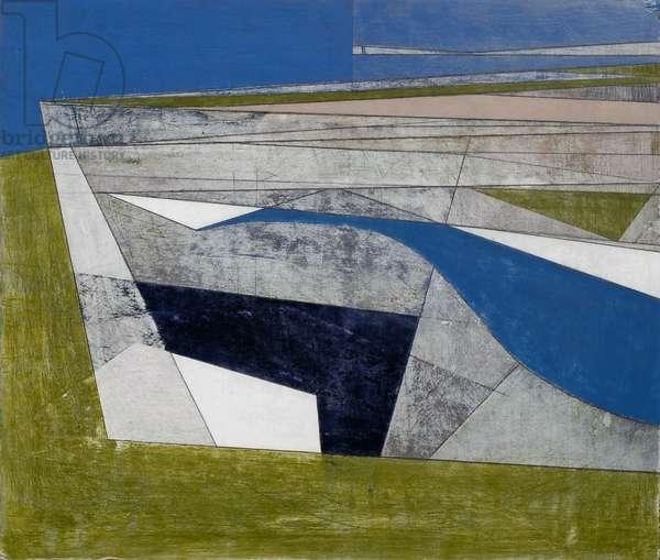 Cliff Shadow, 2007 (acrylic on hardboard)