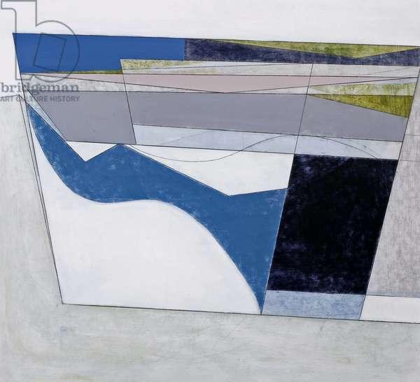 Wave Line 3 (Benaderreen) 2007 (acrylic on hardboard)